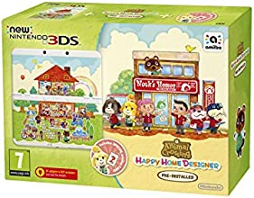 New 3DS + Animal Crossing: Happy Home Designer + Coverplate  + amiibo Card