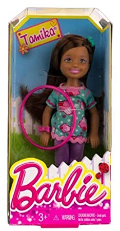 """Tamika w/ Hola Hoop: Barbie Chelsea & Friends Summer Dreamhouse Collection ~5.5"""" Doll Figure by Mattel (English Manual)"""