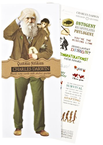 "Unemployed Philosophers Guild Darwin Quotable Notables, 9"" Height"