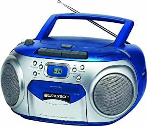 Emerson PD6548BL Portable CD Player with AM/FM Stereo Radio and Cassette Recorder