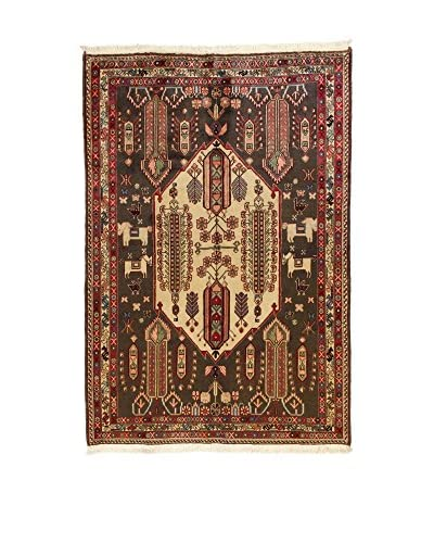 L'Eden del Tappeto Teppich Sirjand braun/beige/rot 233t x t158 cm