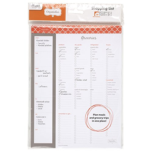 Mead Organizher Magnetic Shopping List, 10