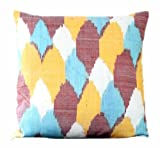 Be Still Homewares Four Colour Ikat Throw Pillow Cover 18 x 18 inch