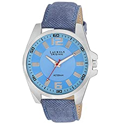 Laurels Original Blue Dial Analogue Watch for Men (Lo-Gt-203)