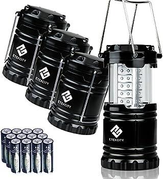 4-Pack Etekcity LED Camping Collapsible Lantern