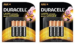 Duracell AAA - 4 Pieces (Pack of 2)