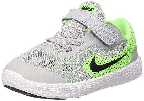 Nike Revolution 3 (Tdv), Scarpe Prima Infanzia (1-10 Mesi) Bambino, Verde (Voltage Green/Blck-Wlf Gry-Vlt), 21 EU