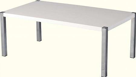 Mesa de centro con CARISMA en blanco/cromo