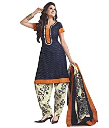 SareeShop A-Line Salwar Suit Dress Material (NickyBlue_BLUE_Free Size)