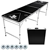 Go Pong 8-Foot Portable Folding Beer Pong (ビアポンテーブル) / Flip Cup Table (6 balls included)