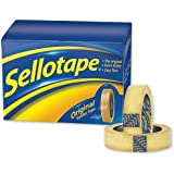 Sellotape Original Golden Tape Roll Non-static Easy-tear Small 18mmx33m Ref 1443251 [Pack of 8]