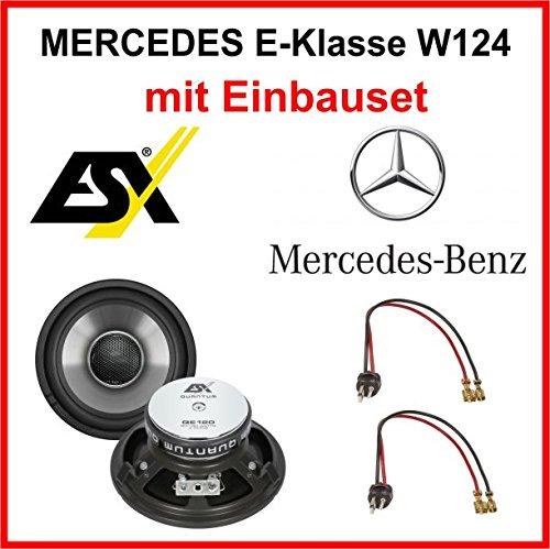 Lautsprecher-Set-ESX-QE120-fr-Mercedes-E-Klasse-W124-1984-1997-vorne