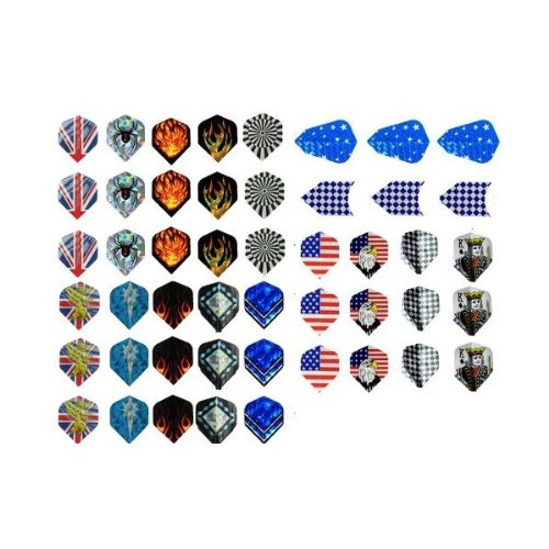 Buy Bargain 50%off-New 16 Sets (48 pcs) of Darts 2D and Aluminium Flights Assorted Wholesale
