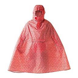 Ikea KNALLA Rain poncho, red, white