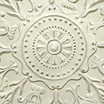 Stratton Home Decor -- Dropship, us home, SUHQX S03354 Stratton Home Decor Shabby White Medallion Wall Decor Shabby Medallion Wall Decor,White