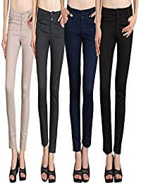 NGT Womens Formal Beige, Black, Navy Blue And Grey Trouser In Special Quality.