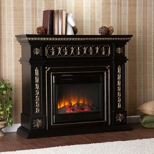 SEI AMZ1669E Donovan Electric Fireplace, Black