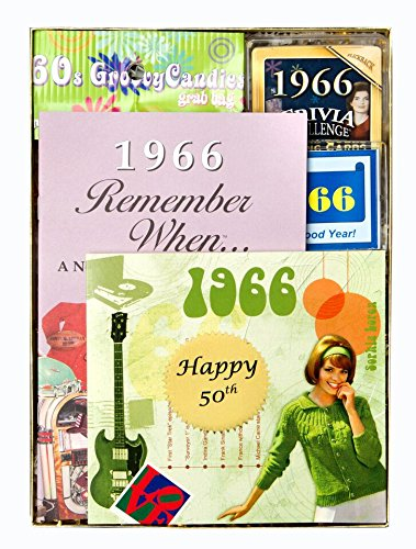 50th Birthday Gift for Women or Men - 50th Anniversary Gift Time Capsule