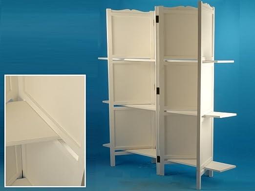 Libreria 4 Ante e 2 mensola in legno Bianco 120x25xh1180cm Disraeli