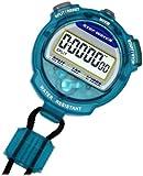 [クレファー]CREPHA デジタルストップウォッチ 3気圧防水 カウントダウン計測 クリアブルー TEV-4013-BL
