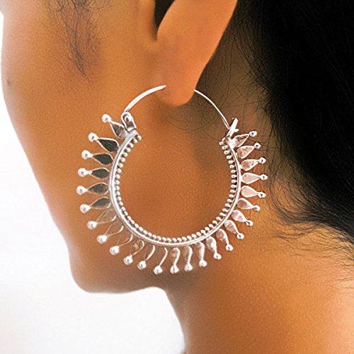 silver-earrings-silver-hoops-tribal-earrings-gypsy-earrings-ethnic-earrings-silver-jewelry-tribal-ho