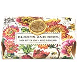 Michel Design Works Oversized Triple Milled Bath Soap Bar, Large, Blooms and Bees, 8.7 Ounce