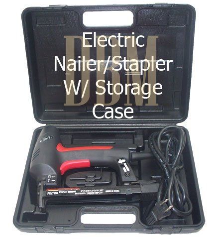 "Electric Nailer Stapler Air Nail Gun 18 Gauge 3/8"""