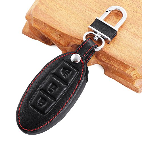 9-MOON-High-Qualtiy-Car-Styling-Key-Cover-Case-fit-Nissan-3-Button-Key-High-Quality-leatherCompact-and-delicate-design-soft-and-durable