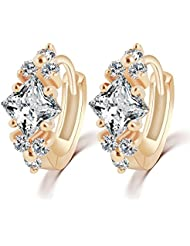 Hot And Bold Mesmerizing Fashion Gold Plated Earrings For Women & Girls. Made Of Alloy, Zircon & Crystals