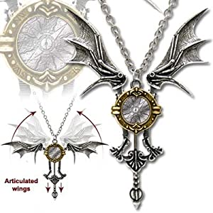Icarus Ex Machina Steampunk Necklace with Moving Parts