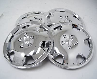 TuningPros WSC-720C16 Chrome Hubcaps Wheel Skin Cover 16-Inches Silver Set of 4