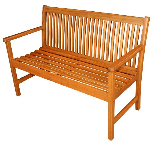 LuuNguyen – Thompson Outdoor Four Foot Hardwood Bench (Natural Wood Finish)
