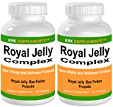 51qrgFJ5NJL. SL160  2 BOTTLES Royal Jelly Complex Bee Propolis Bee Pollen 60 softgels KRK SUPPLEMENTS