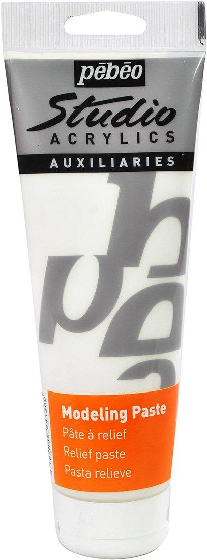 Pebeo Studio Acrylics Auxiliaries - Pasta relieve (250 ml), color blanco   revisión y más información