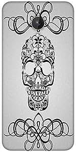 Snoogg Skull White 2435 Designer Protective Back Case Cover For Micromax Canvas Spark Q380