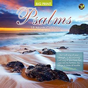 Psalms Big Print 18 Month 2013 Wall Calendar