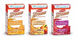 Boost Breeze, Variety Case, Orange, Peach and Wild Berry, 8-Ounce Boxes (Pack of 27)