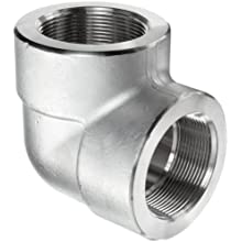 304/304L Forged Stainless Steel Pipe Fitting, 90 Degree Elbow, Class 3000, NPT Female