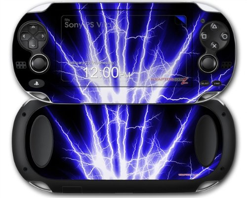 Sony PS Vita Skin Lightning Blue by WraptorSkinz