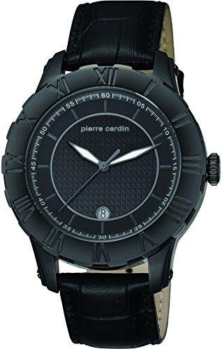 pierre-cardin-montre-homme-quartz-analogique-aiguilles-lumineuses-bracelet-cuir-noir