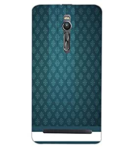 PrintDhaba BLUE PATTERN D-6349 Back Case Cover for ASUS ZENFONE 2 (Multi-Coloured)