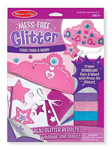 Melissa & Doug Mess Free Glitter -Foam Tiara and Wand