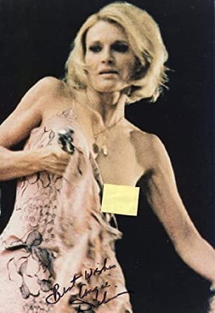 "ANGIE DICKINSON signed ""Big Bad Mama"" semi-topless 8x12 photo / UACC"