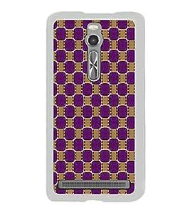 Colourful Pattern 2D Hard Polycarbonate Designer Back Case Cover for Asus Zenfone 2 ZE551ML