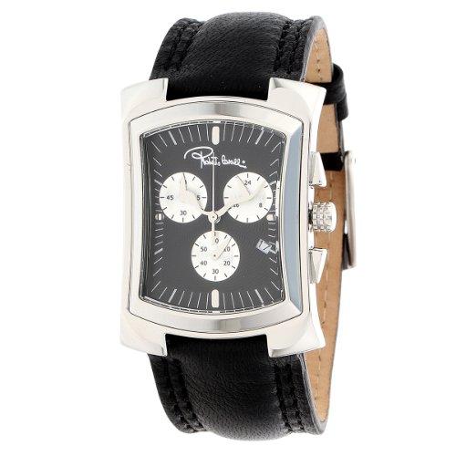 Roberto Cavalli - 7251900025 - Tomahawk - Montre Homme - Quartz Analogique - Chronographe - Bracelet Cuir Noir