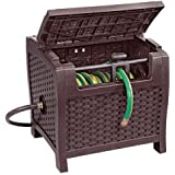 Suncast PTW175 Mocha Wicker 175-Foot Capacity Hose Reel