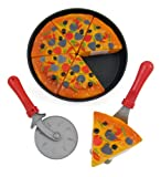 Liberty Imports Pizza Party Fast Food Cooking & Cutting Play Set Toy for kids