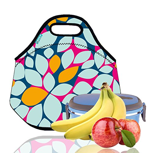 Lunch Tote, OFEILY Lunch boxes Lunch bags with Fine Neoprene Material Waterproof Picnic Lunch Bag