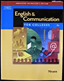 img - for English & Communication For Colleges Annotated Instructor's Edition book / textbook / text book