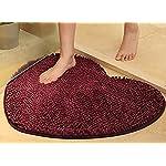 Yuanlar Non-slip Microfiber Bath Mats Bathroom Shower Rugs Door Mat Toilet Rug Area Carpet for Home Living Room Kitchen Heart-shaped (19.7x23.6, Purple)